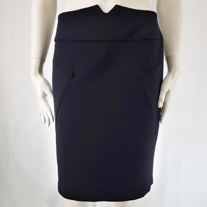 Adrienne Vittadini | Navy Pencil Skirt